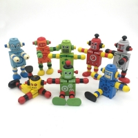 Novelty 11cm Newest Creative Colorful Deformable Kids DIY Educational Toy Christmas Gift Move Body Cute Robot Action Figure Toys
