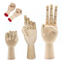 New 1Pc Right Left Hand Wooden Model Sketching Drawing Jointed Movable Fingers Mannequin