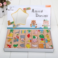 Sale Learning Educational Toys Puzzle Wooden Toy Animal Domino Wooden Puzzles Toy Gift