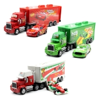Disney Pixar Mack Truck Mcqueen Chicken Uncle Hicks 1:55 Plastic Metal Alloy Mould Automotive Gift Toys For Children