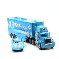 Disney Pixar Cars Mack Lightning McQueen & Chick Hicks & King & Fabulous Hudson Truck Toy Car 1:55 Loose New & Free Shipping