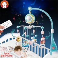Baby Crib Mobiles Rattles Toys Bed Bell Carousel For Cots Projection Infant Educational Toy 0 12 Months For Newborns
