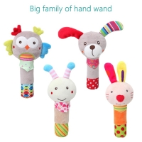 Cartoon Animal Hand Bell Rattle Soft Rattle Toy Baby Rattle Mobiles Baby Toys Cute Plush Bebe Toys 0-12 Months 20% off