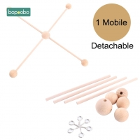 Bopoobo 1Set Baby Hanger Baby Mobile Crib Hanger Frame Mobile DIY Crafts Ecofriendly Sensory Chewing Toy Baby Rattle Teether