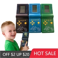 1Pcs Retro Classic Electronic Puzzle Toys Tetris Game Children's Educational Toys Players Built-in 23 Games Brick Game Tanks War
