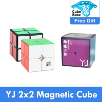 Original Yongjun Yupo v2 M 2x2x2 Magnetic Speed Cube 2x2 2M Magic Cube Puzzle Professional Educational Toys for kids