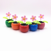 1PC Moving Dancing Swing Flip flap Solar Toy Power Sunflower Apple Car gadgets Gift Home Toys Decorating Plants