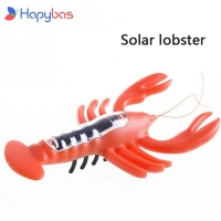 2017 Promotion Juguete Solar  shrimp Funny Gadgets Kids Solar Toys Power Energy Lobster Children Teaching Fun Gadget Toy Gift