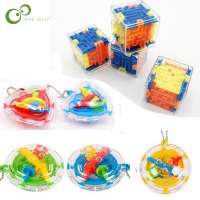 Mini Maze Intellect 3d Puzzle Toy Balance Barrier Magic Labyrinth Hand Game Case Box Fun Brain Game Challenge Fidget toys LYQ