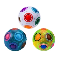 Luminous Magic Rainbow Ball Football Cube Fluorescence Hottest Decompression Finger Toy Children Adult Anti Stress Ball