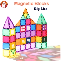 Magnetic Building Blocks Magnetic Tiles Constructor Games Magnet Toy Model Educational Toys For Children LovelyToo
