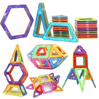 30 Pcs Big Size Wisdom Designer Magnetic Building Blocks Constuction Assembly Stereo Square Shape Building Blocks Children Toys