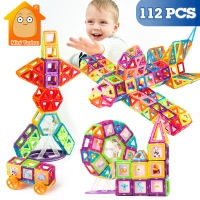 112PCS Mini Magnetic Designer Construction Set Model & Building Plastic Magnetic Blocks Educational Toys For Kids Gift