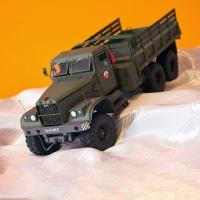 1:25 Kraz-255B Military Truck DIY 3D Paper Card Model Building Sets Construction Toys Educational Toys Military Model