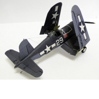 1:33 U.S. F4U-1A Pirate Shipborne Fighter DIY 3D Paper Card Model Building Set Educational Toys Military Model Construction Toys