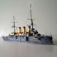 1:250 Russian Navy Osrabian Battleship DIY 3D Paper Card Model Building Sets Construction Toys Educational Toys Military Model