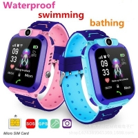 Waterproof Kids Q12 Smart Watch SOS Anti-lost Smartwatch Baby Clock Call Location Tracker Locator Watch No Sim Card Phone Toy
