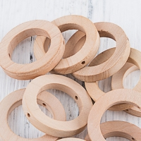 25*8MM Teether DIY Crafts Wooden Rings Small Wood Chewable Teething Toys Baby Nursing Accessories 5PCS Unpainted Handmade Ring