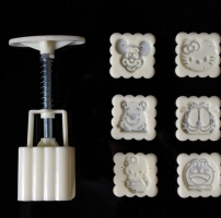 Eddition 6 Different Cartoon Square Moon Cake Mold Mould Cute Stamps Exclusive