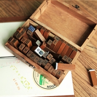 70pcs Letters Stamps DIY Craft Toy For Children Wood English Alphabet Number Scrapbooking Stamper Kids Wooden Box