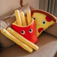 interesting Food pillow French fries pizza Plush Toys Stuffed Food Pillow Sofa pillow Stuffed Kids Toys Girl Birthday Gifts