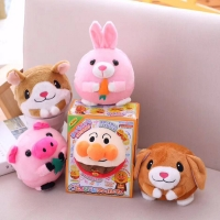 9 Cartoon Jumping Ball USB Learning Dialogue And Singing Electric Plush Dolls Give Children Cute Gifts