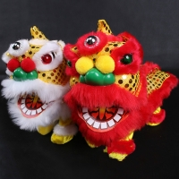 Electric Plush Toy Lion Electric Zhaocai Lion Toys Children's Gift Traditional Chinese toys Lighting Walking Sound Doll Models