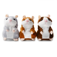 Talking pet hamster electronic animal stuffed toys - imitated and repeated words and sounds - special birthday gifts for childre