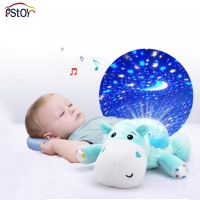 Plush Toys Baby Comfort Stuffed Animals Doll 0-3 Years Old Sleep Soft Toys With Sound & Light Instrument Infant Calm Toy