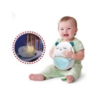 Plush Toys Cute Baby Comfort Doll Children Carton Animal Multicolor Star Projector Lamp Baby Soft Toys With Light & Music Hobby