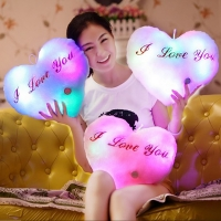 Heart Shaped  LED Plush Pillows Light UpToys Stuffed Glowing Toys Lovers Gift Friend LED Gifts Light-up Toys