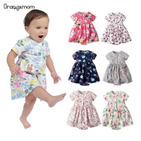 Oramgemom official store 2020 summer short baby dress for girls baby clothing infant dress flower newborn-24M girl costume
