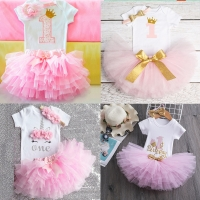 It's My 1st 2nd Birthday Baby Girl Outfits Dress for Girl Party Infant Tutu Little Girls Toddler Clothes Half of Year Baby Sets