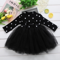Long Sleeve Baby Girl Dress Newborn Princess Infant Baby Girl Clothes Polka Dot Tutu Ball Gown Party Dresses Little Girl Clothes