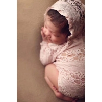 New Children Photography Clothing Newborn Lace Clothes Full Moon Hundred Days Baby Princess Hat Onesies