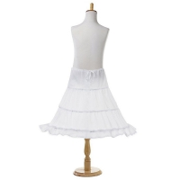 White Long Flower Girl Dress Petticoat 2-3 Hoops Kids Princess Evening Wedding Dresses Crinoline Tutu Skirts Girls Underskirt