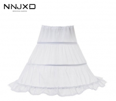 New Formal 3 Hoops Children Kid Skirt Petticoat Crinoline Underskirt Wedding Accessories For Girls Ball Gown Elastic Waist