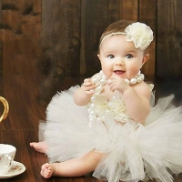 Baby Tutus Set Fancy Frills 3 Piece Set Includes Tutu Skirt Headband and Top Newborn Photo Props Birthday Tutu Set TS068