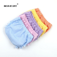Baby Boy Girls Shorts Newborn Bloomers Baby Panties Checkered Pattern Infant PP Shorts Summer Beach Harem Shorts Kids Bloomer