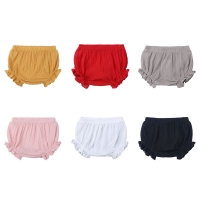 6-24Months Summer Baby Shorts Cotton Linen Baby Girl Shorts Solid Color Newborn Bloomers Fashion Loose Toddler Boys Bread Pants