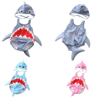 New Kids'swimming Suit Baby And Girl Swimming Pool Cute Shark Swimming Suit Baby Conjoined Swimming Suit