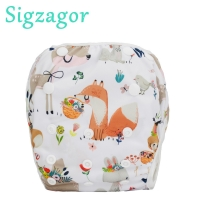 [Sigzagor]Swim Diaper Nappy Pants Reusable baby infant boy girl toddler 0-3 years All IN ONE,One Size 76 Choices 6lbs-26lbs