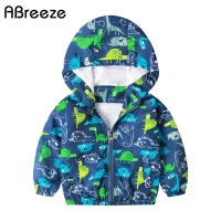 2020 Spring summer baby tops clothes baby jackets Dinosau print baby boys outerwear & coats 1-6T hooded jackets for baby boys