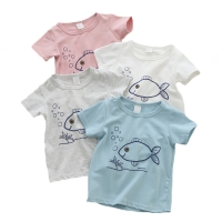 Short Sleeve Baby Boys T-Shirts Cotton Boy's Clothing Baby Tshirt Cartoon Fish Casual Top Baby Summer First Birthday Boy Clothes