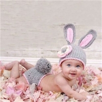 New Knitting Baby Hat Newborn Photography Props Cute Photography Props Children Cap For Girls Hat Baby Girl Clothing