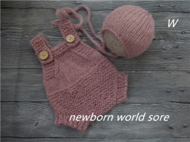 Baby hat and shorts,newborn photography props mohair hat and mohair shorts, hat and shorts.