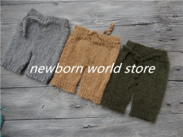 baby pants ,newborn photography props mohair pants.