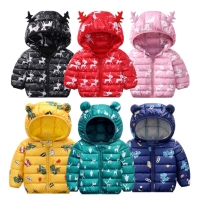 2020 Spring light korean girls jacket for girl coat with hoodies ear teenage boys clothing 9 colours cartoon clothes children