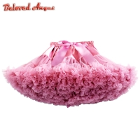2019 New Baby Girls Kids Tutu Skirt Kids Dance Pettiskirt Party Ballet Fluffy Layer Princess Birthday Party Skirt Kids Ball Gown
