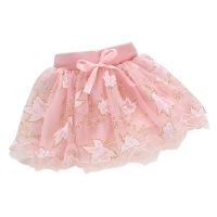 Princess Skirt Party Tutu Skirt 1-4Year Hot Cute Summer Baby Kids Girls Floral Bowknot New
